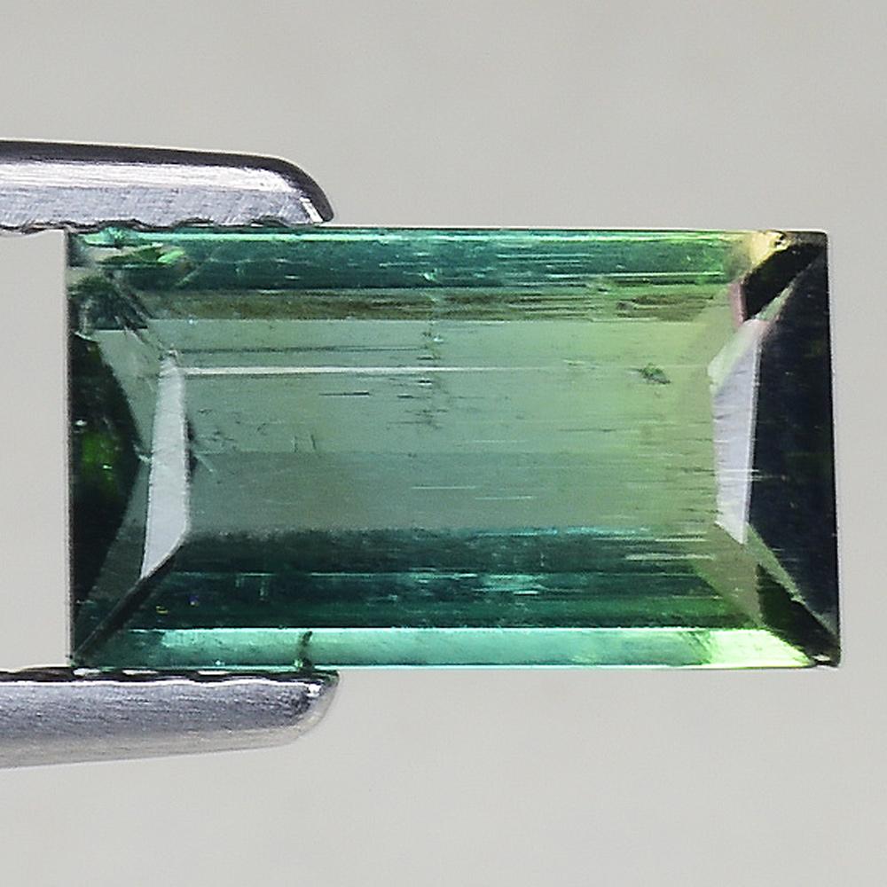 BI-COLOR NON-NATURAL 10x8mm WATERMELON TOURMALINE Emerald Cut LOOSE US